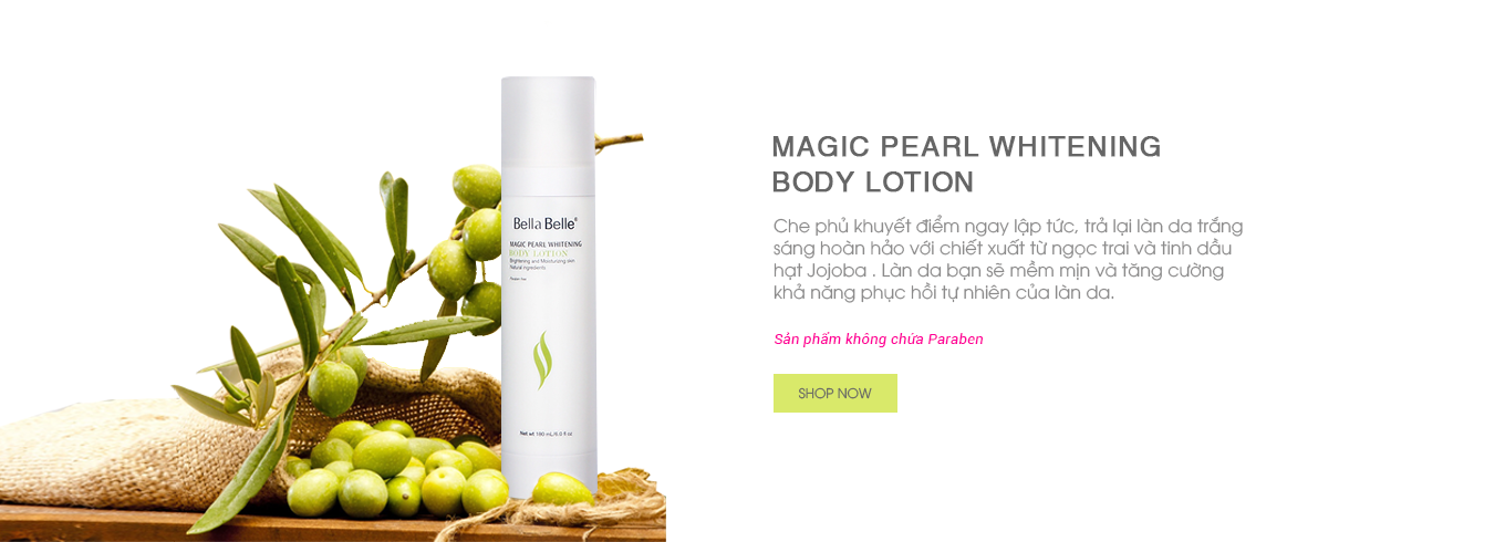 KEM DƯỠNG TRẮNG MAKEUP BODY BELLA BELLE MAGIC PEARL WHITENING BODY LOTION